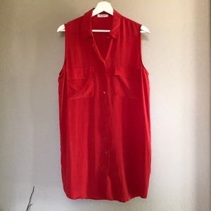 Equipment shirt dress in size large